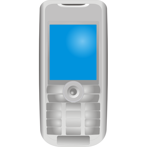 Sony Ericsson mobile phone vector drawing