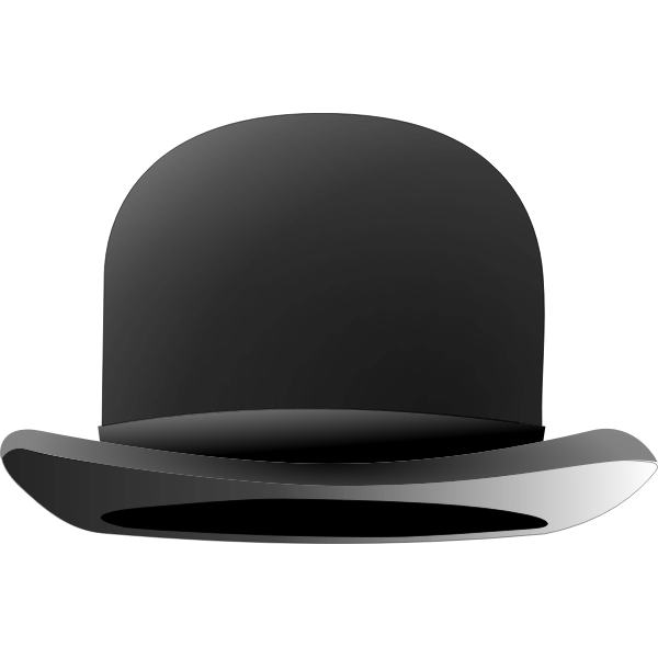 Chaplin bowler hat vector drawing