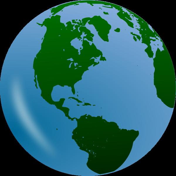 3D globe vector clip art