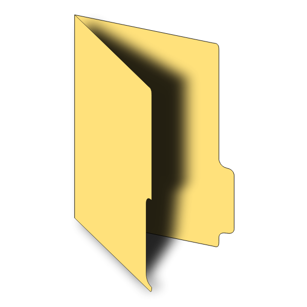 Open folder vector graphics