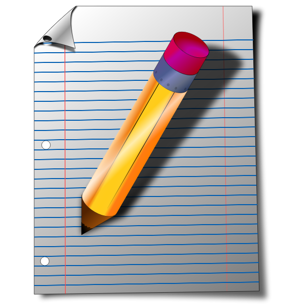 Office stationery vector drawing