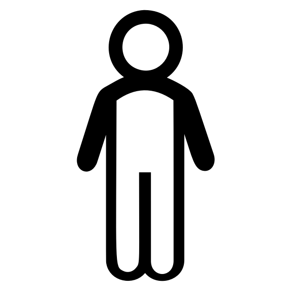 Male Stick Figure Line Art