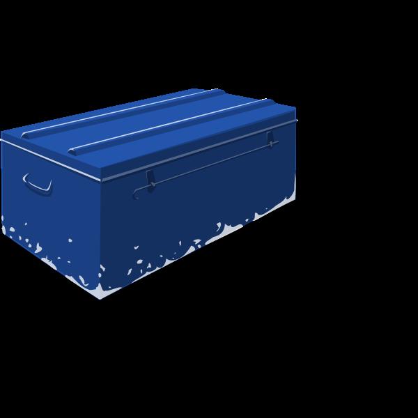 Vector drawing metal toolbox