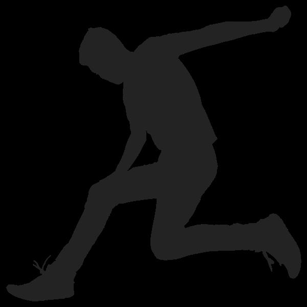 Man Jumping Silhouette 2
