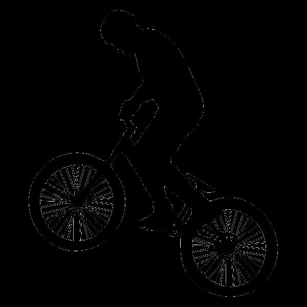 Man On Bike Silhouette
