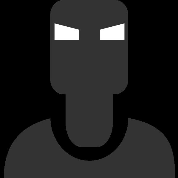 Iron man pictogram vector clip art