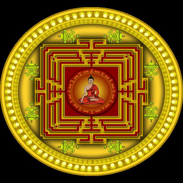 Mandala with Buddha