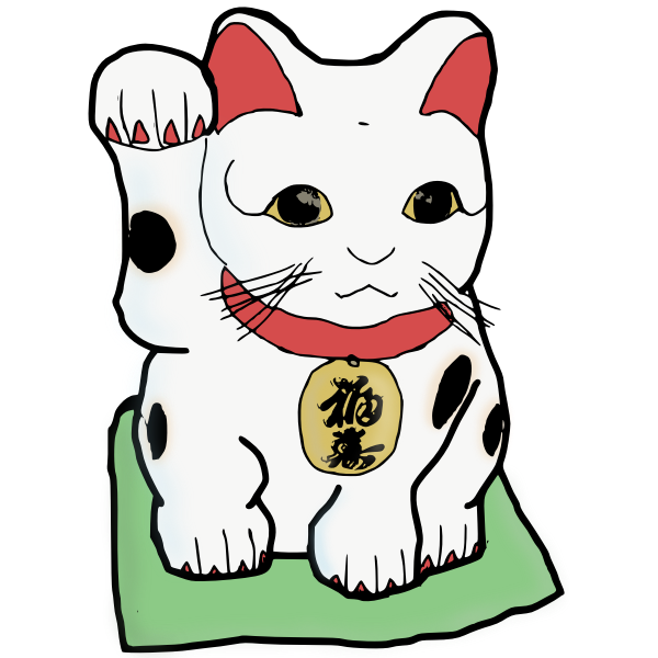 Japanese cat vector image
