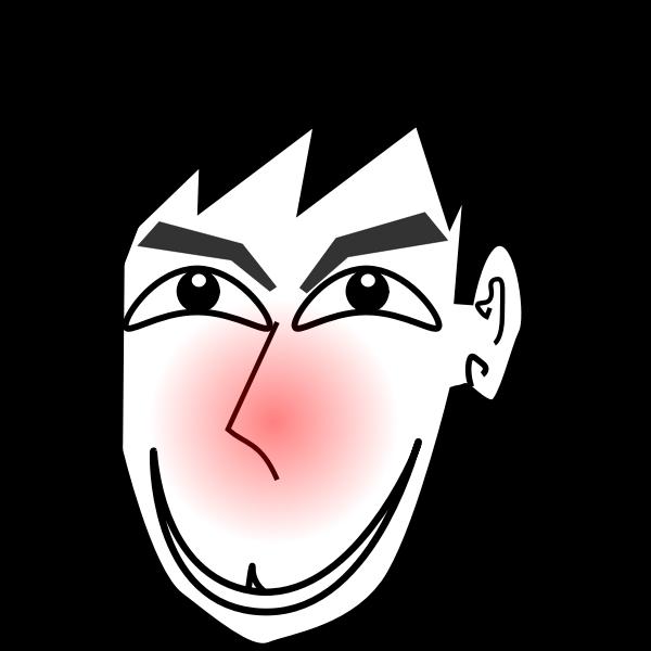 Man blushing