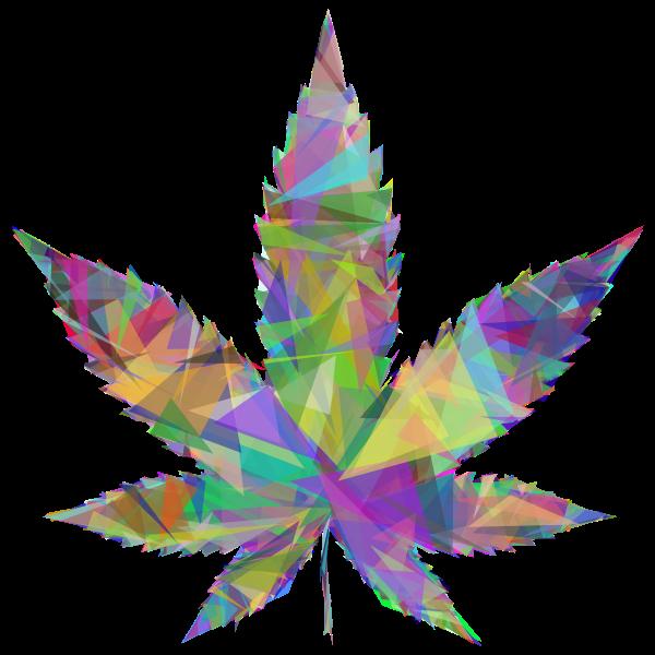 Marijuana Leaf Triangles