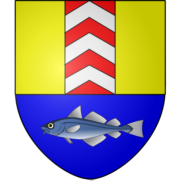 Vector drawing of coat of arms of Boudry City