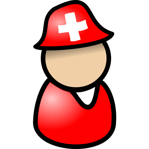 Swiss tourist avatar vector image