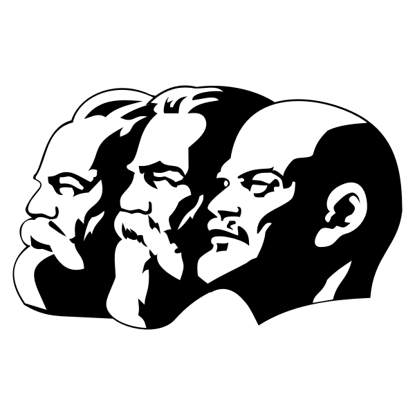 Marx, Engels and Lenin portrait vector image