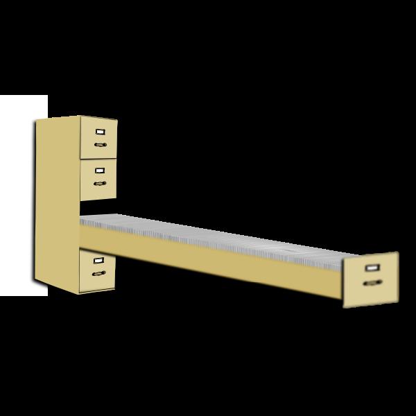 File cabinet vector clip art