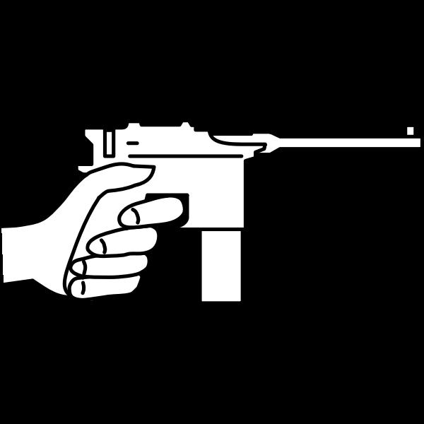 Mauser gun vector graphics