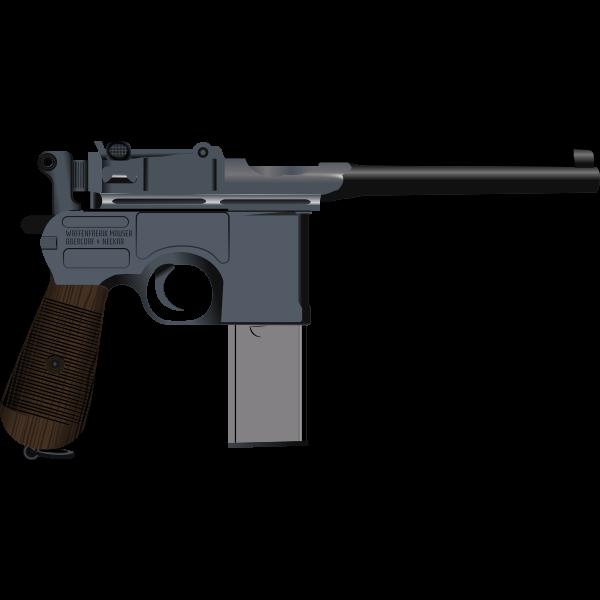 Mauser C96 gun vector image