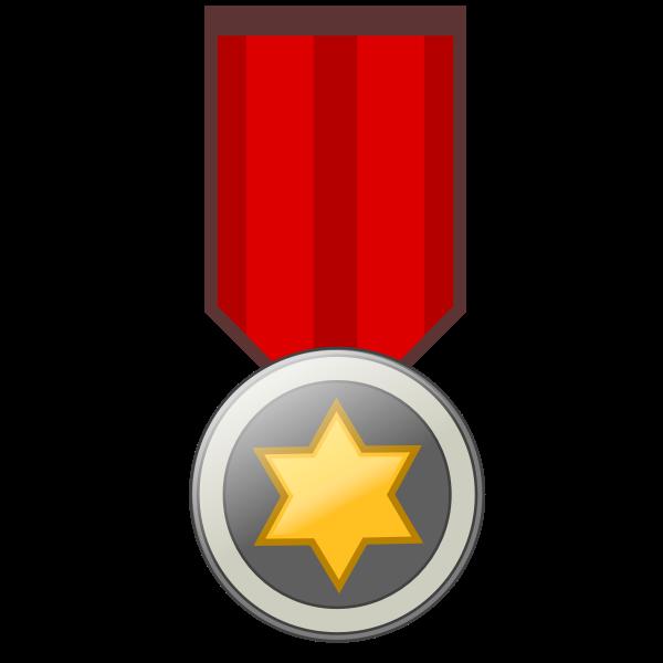 Star award badge vector image