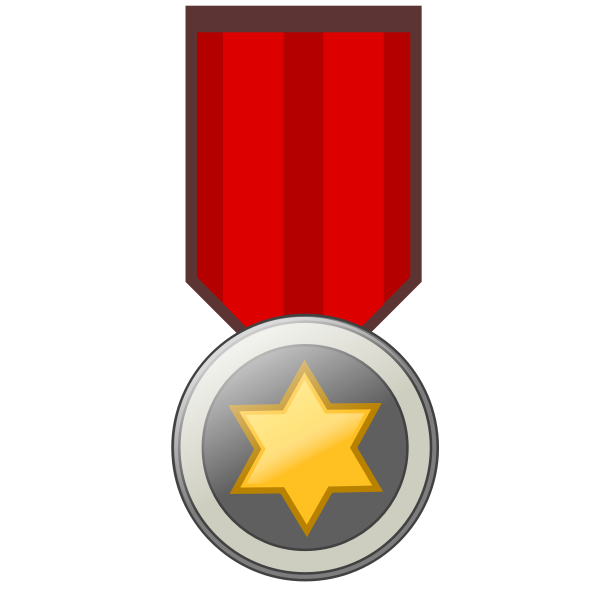 Star award badge vector image