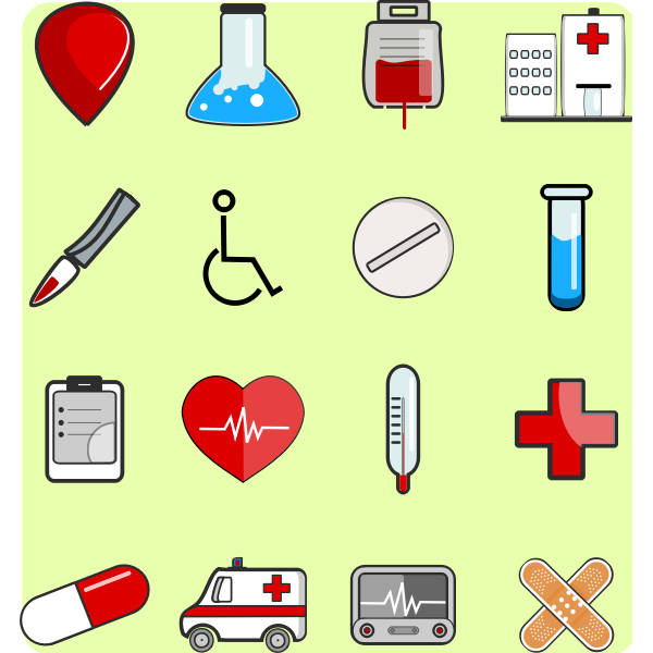 Medical icons package