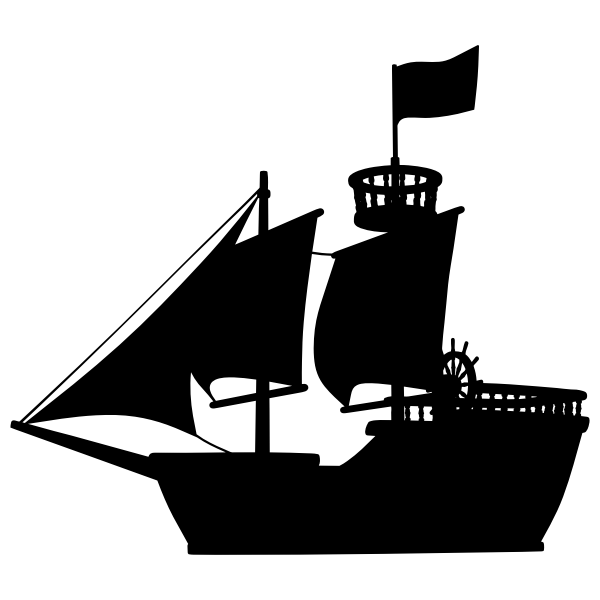 Medieval Ship Silhouette