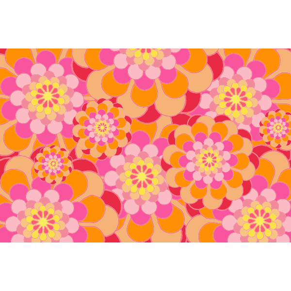 Melon Shades Floral Background