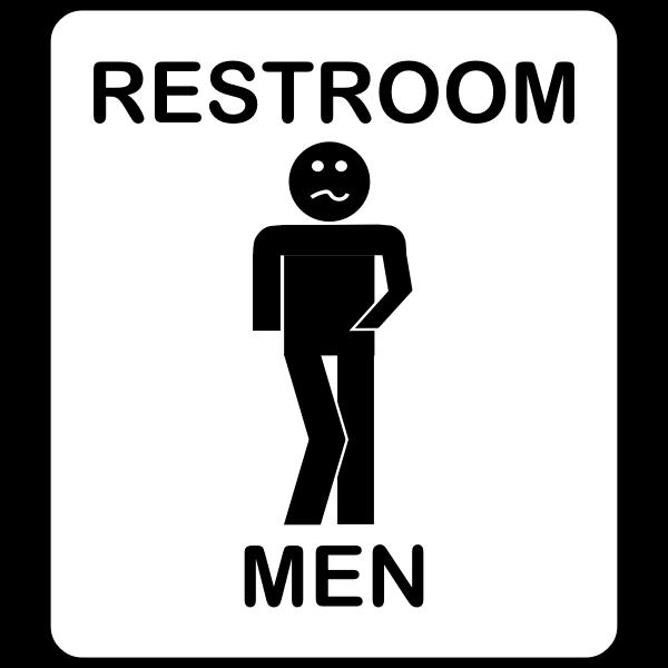 Humorous men's toilet symbol vector illustration