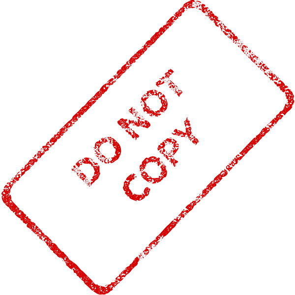 """Red """"Do not copy"""" Stamp vector image"""