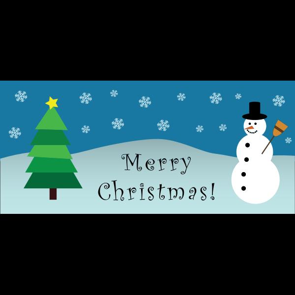 Merry Christmas Snowman Scene