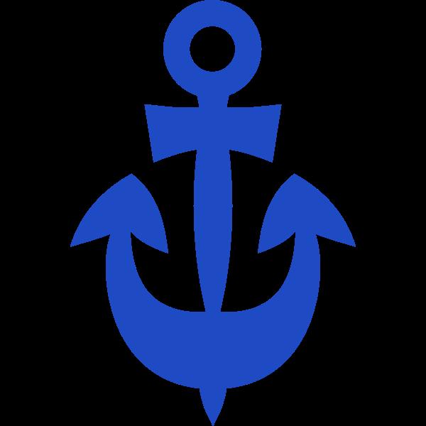 Blue ship anchor vector image