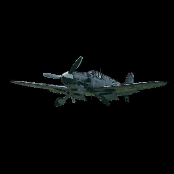 Messerschmidt Bf109G airplane vector clip art