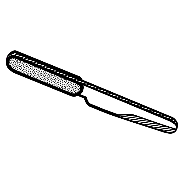 Drawing of spotty handle knife