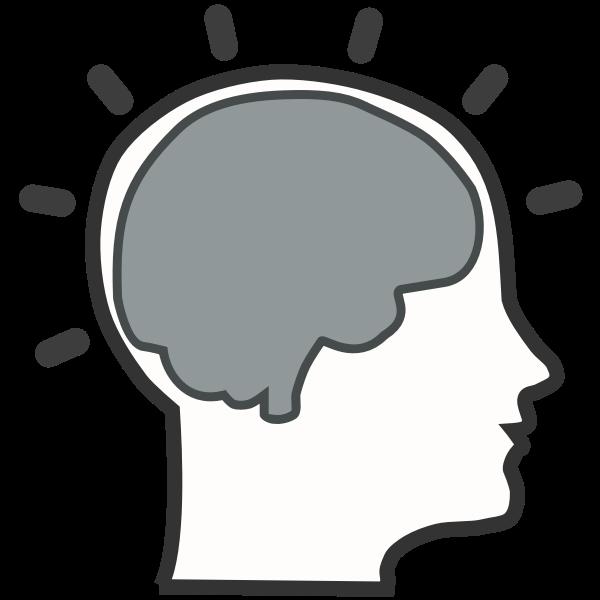 Silhouette of brain activity vector illustration
