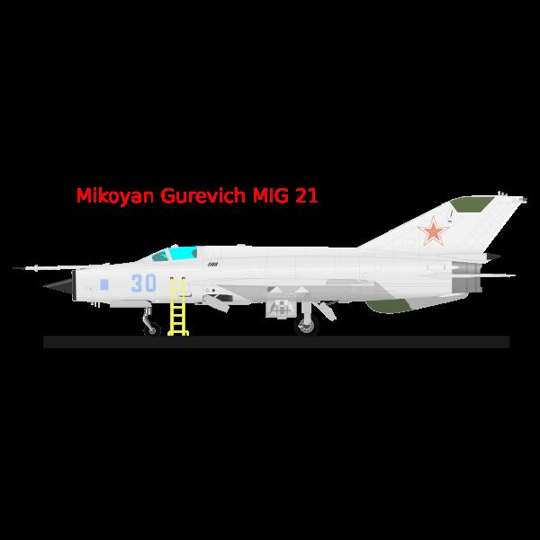 MIG 21 vector