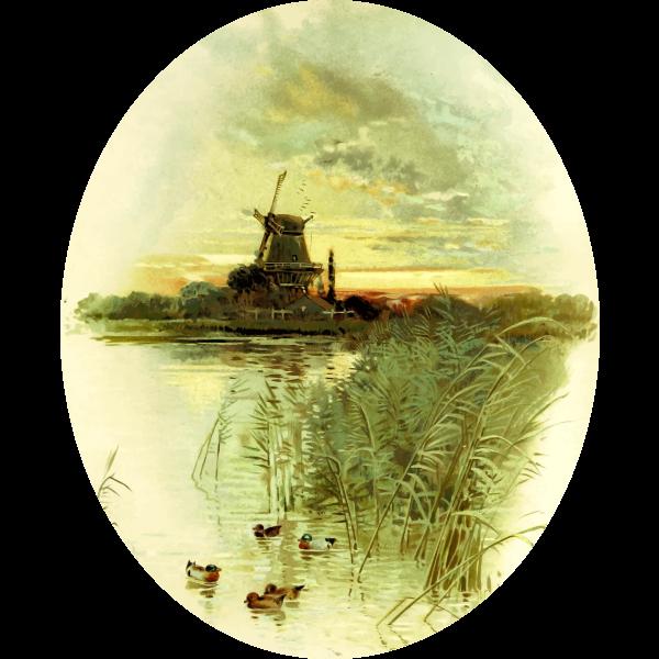 Mill Scene painting