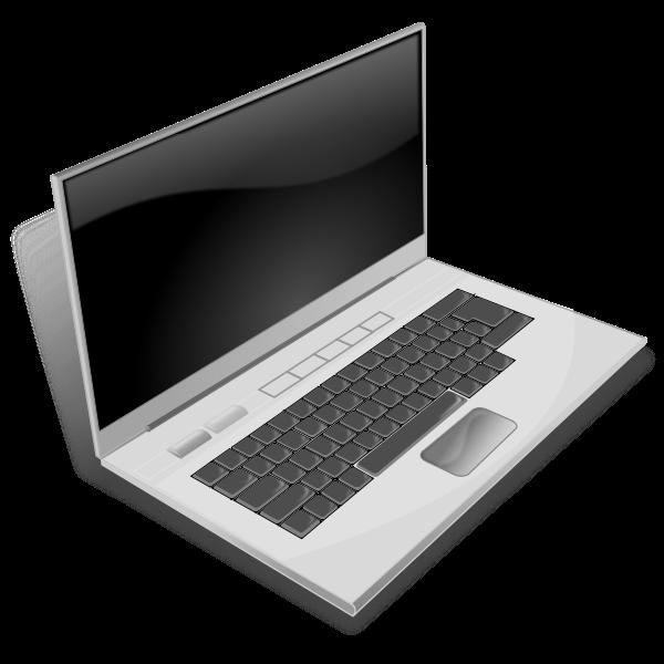 Vector image of notebook computer