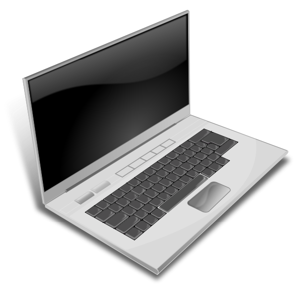 Vector image of notebook computer