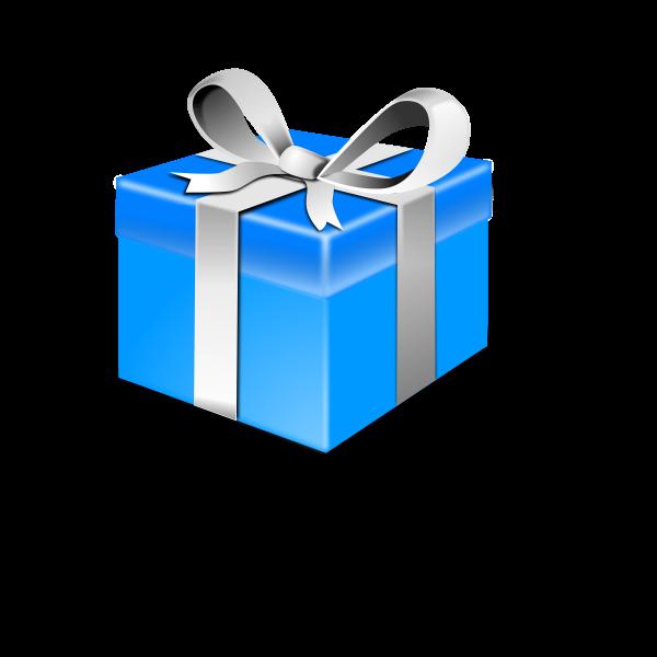 Present Blue Pack Vector