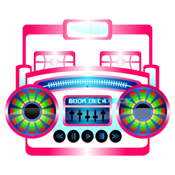 Boom Box Vector Graphics