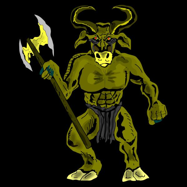 Green bull beast