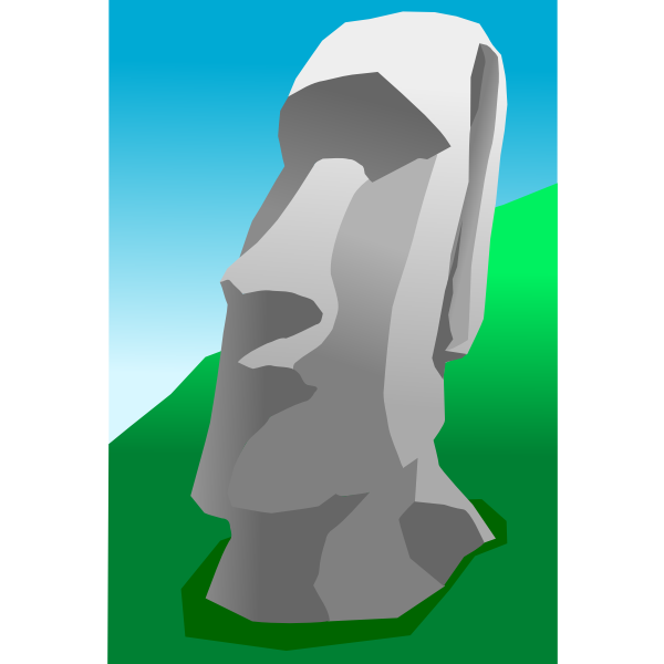 Moai vector graphics