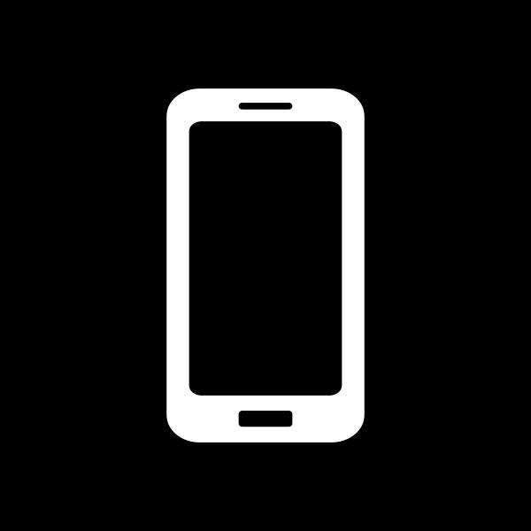 Mobile Icon - White on Black