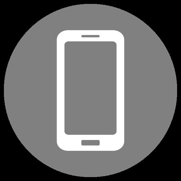 Mobile Icon - White on Grey