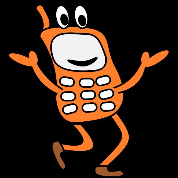 Funny walking phone vector image