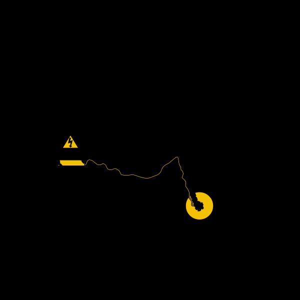 Modern electric bike silhouette vector clip art