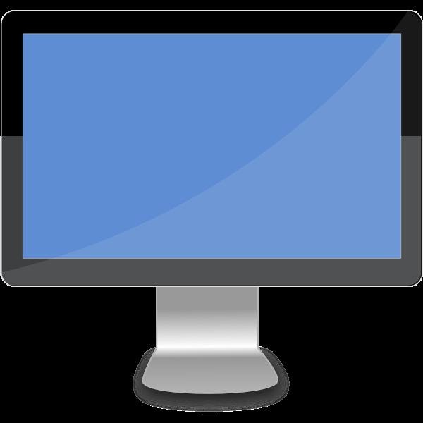 Modern wide desktop vector image