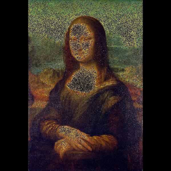Mona Lisa Stippled