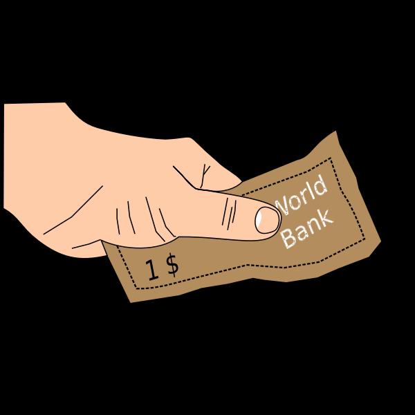 World's bank money vector image