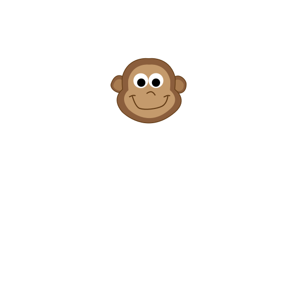 Vector drawing of cartoon monkey baby