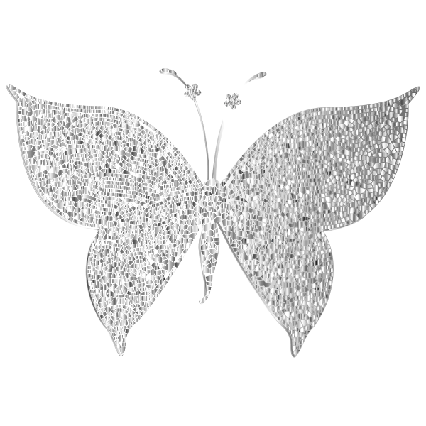 Monochromatic Tiled Butterfly Silhouette