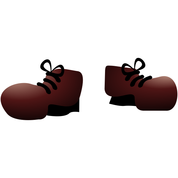 Vector image of monster shoes